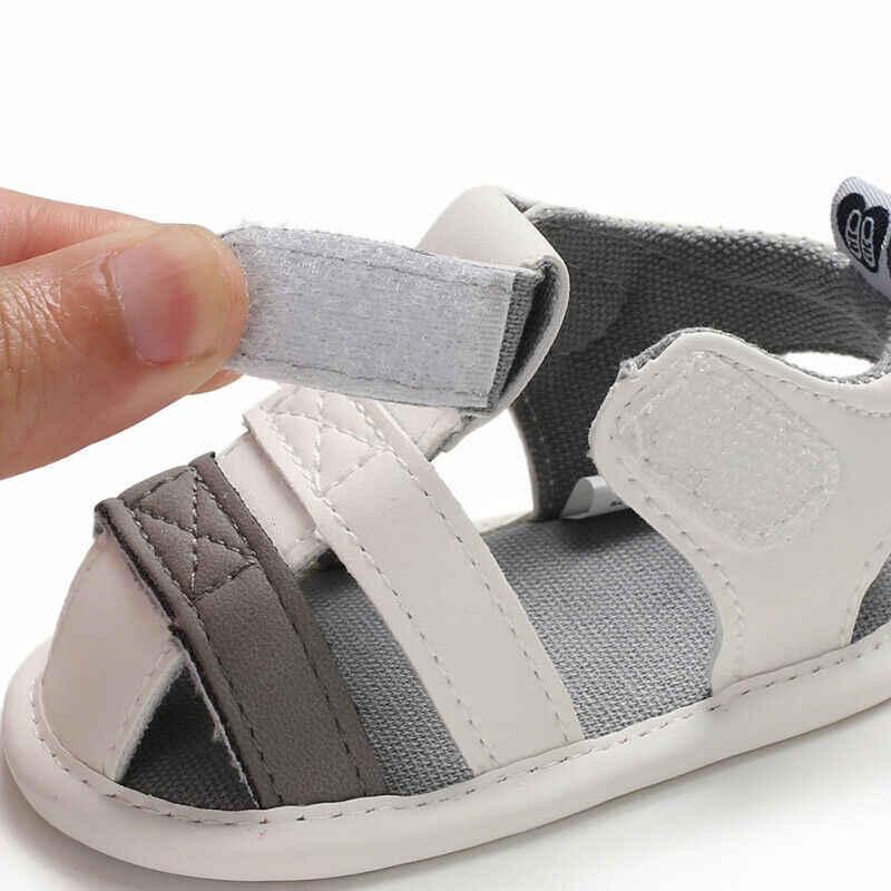 2019 bébé chaussures d'été nouveau-né infantile bébé fille garçon enfants berceau chaussures semelle souple solide crochet casual antidérapant premiers marcheurs 0-18 M