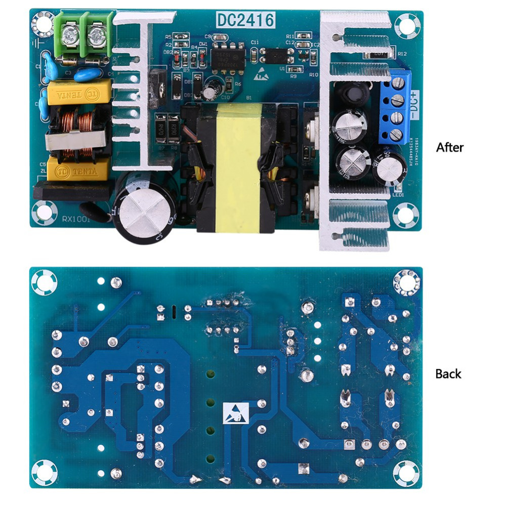 Ac 85-265v To Dc 24v 4a-6a 100w Switching Power Supply Board Power Supply Module Overvoltage Overcurrent Circuit Protection New Varieties Are Introduced One After Another Integrated Circuits Electronic Components & Supplies