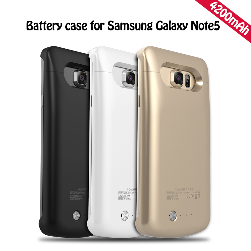 uk availability 47907 59e42 US $15.99 |Free Shipping 4200mah Note 5 External Power Bank Case For  Samsung Note 5 Backup Battery Cover Case White Black Gold Hot Selling-in  Battery ...