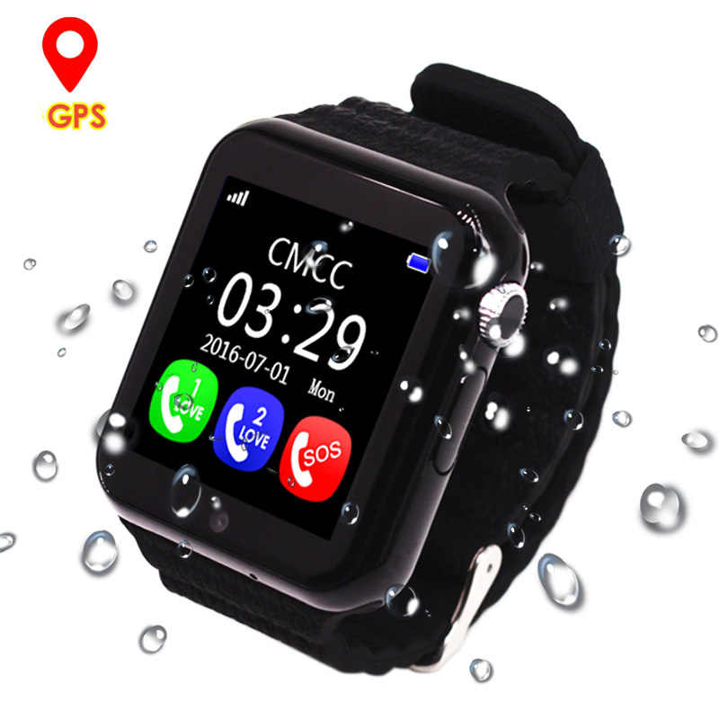 Kids GPS Smart Watch Safe Monitor with Camera Support SIM TF SOS Call Positioning Tracker V7K Watches Phone reloj inteligente