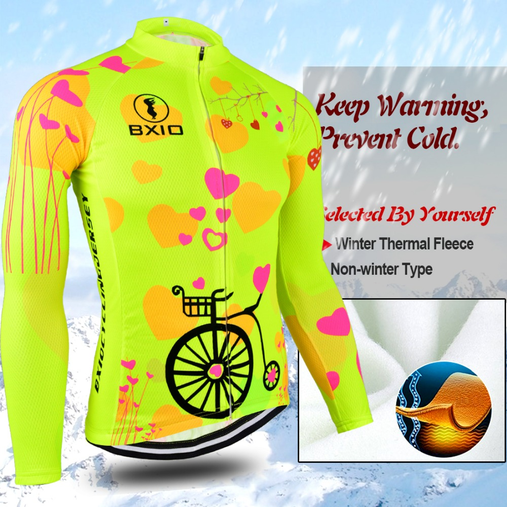 Image 4 - BXIO 2019 Pro Winter Thermal Fleece Woman Cycling jerseys Sets MTB Wear Bike Wear Clothing Ciclismo Long Sleeve Bicycle 125-in Cycling Sets from Sports & Entertainment
