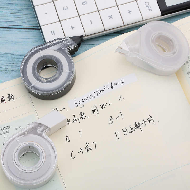 Imprensa Tipo Decorativo Fita Corretiva Kawaii Adesivo Erro Corrector Correta da Correia Rolo 12 m Longo Branco Cor Aleatória ACT54801