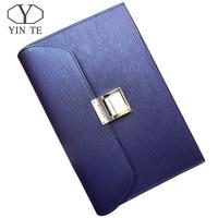 YINTE Men's Leather Big Clutch Bag Wristlet Handbag Organizer Wallet Business Checkbook High Capacity Zipper Wallet Portfolio