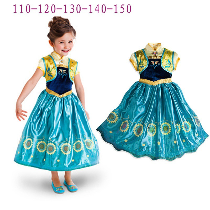 Halloween Christmas Costumes For Kids Elsa Anna Cosplay Princess Dress Party Vestido Deguisement For Disfraces Carnaval