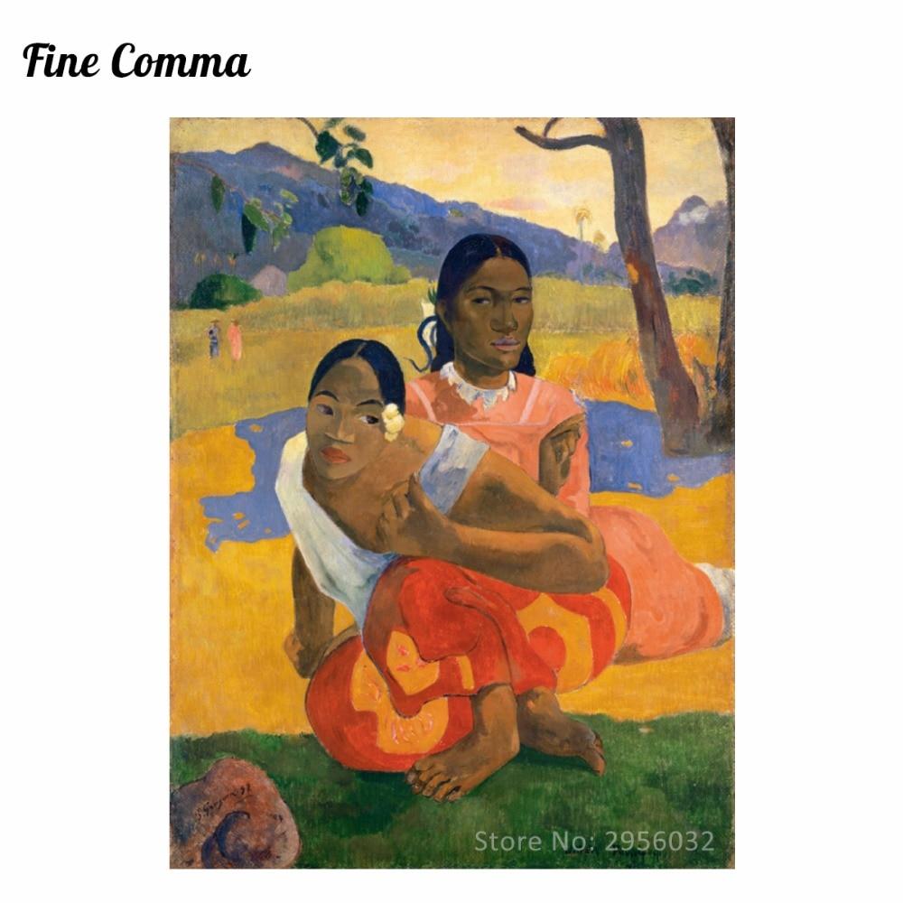Kdy si vezmeš Nafea faa ipoipo od Paula Gauguina Ručně malovaná olejomalba Replika Replika Wall Art Canvas Repro