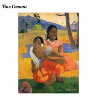 When Will You Marry Nafea faa ipoipo by Paul Gauguin Hand painted Oil Painting Reproduction Replica Wall Art Canvas Repro