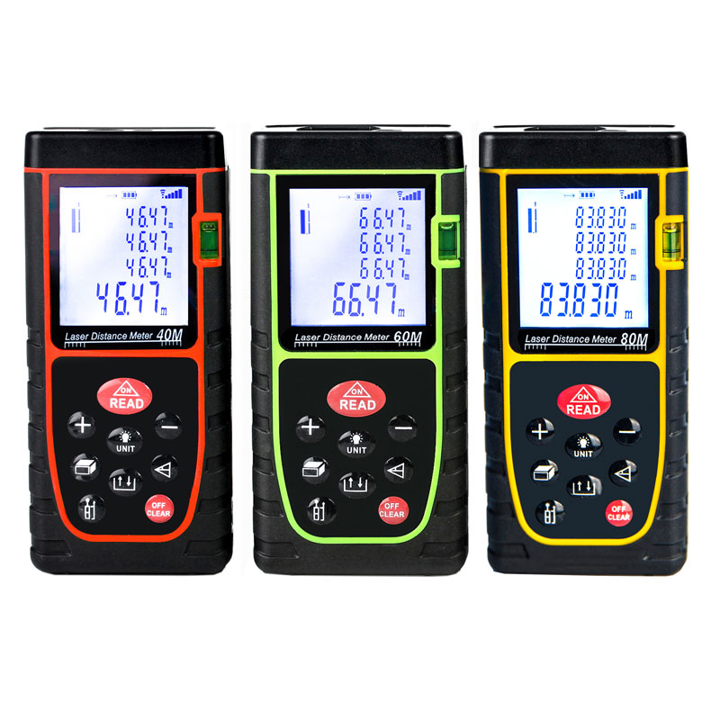 Laser Level Range Finder Distance Meter 40/60/80/100M Infrared Measuring Instrument Electronic Ruler High Precision Laser Level цена