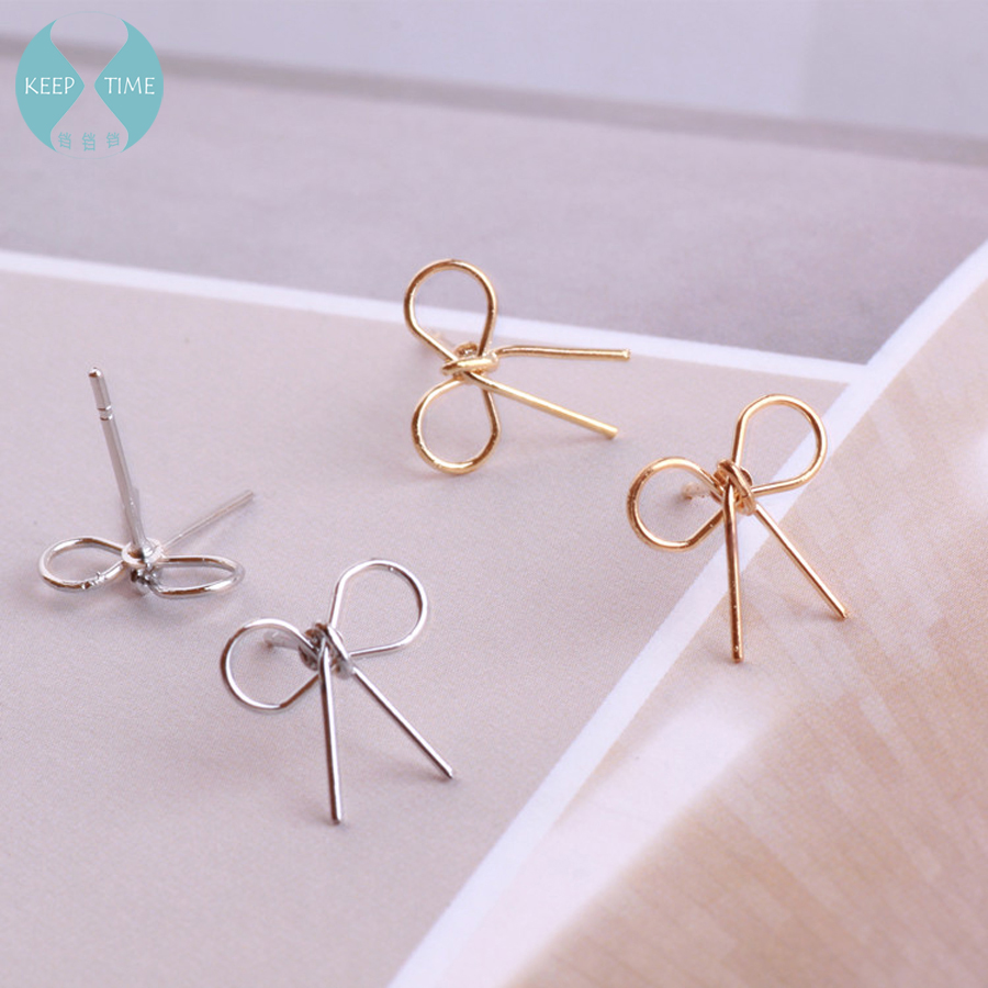 Ritoule DIY handmade Korean simple, fresh bow tie, ear studs, ear rings, ear hooks, ear ornaments