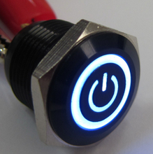 ELEWIND 16mm illuminated power symbol push on switchs(PM161F-10ET/J/B/2.8V/A)