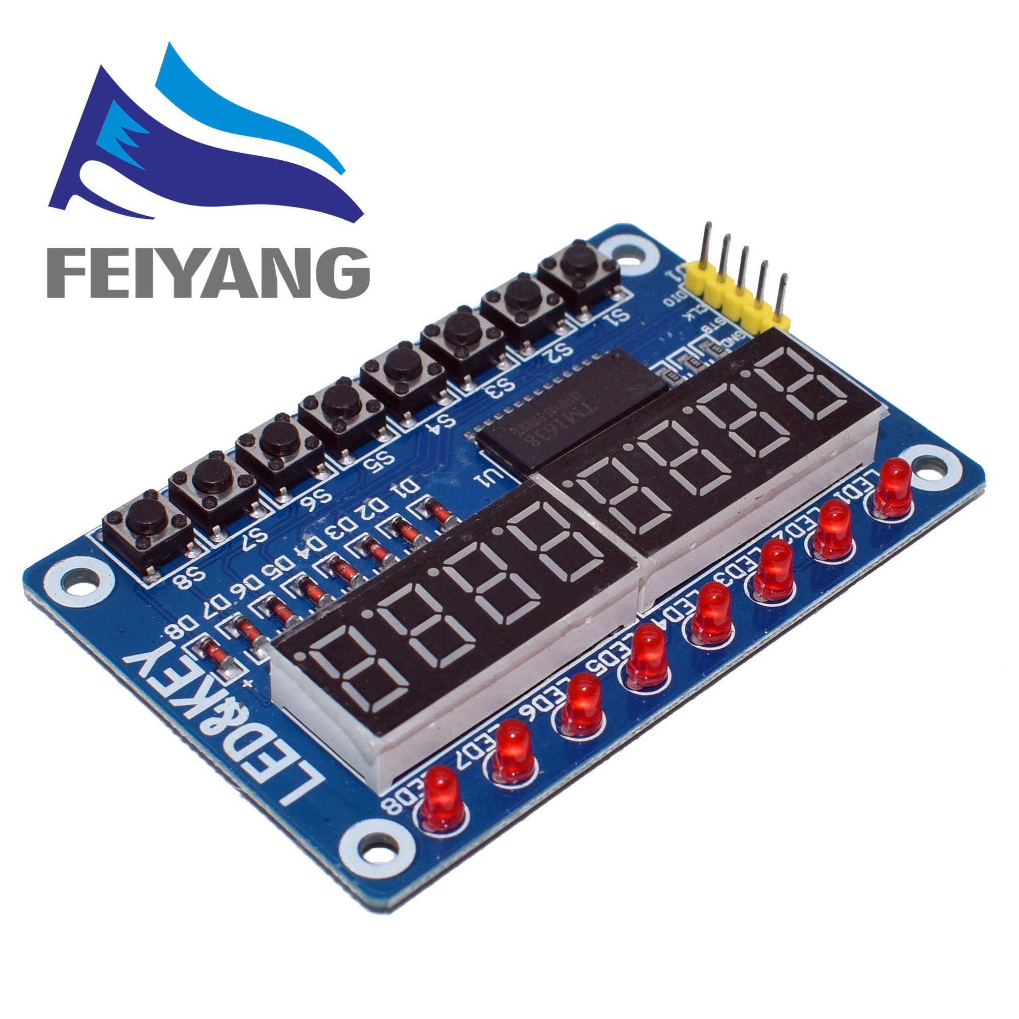 1pcs Key Display For AVR New 8-Bit Digital LED Tube 8-Bit TM1638 Module(China)