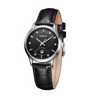 Mige 2017 Hot Sale Fashion Ladies Watch Top Brand Luxury Brown Black Leather Strap Waterproof Female Clock Quartz Women Watches