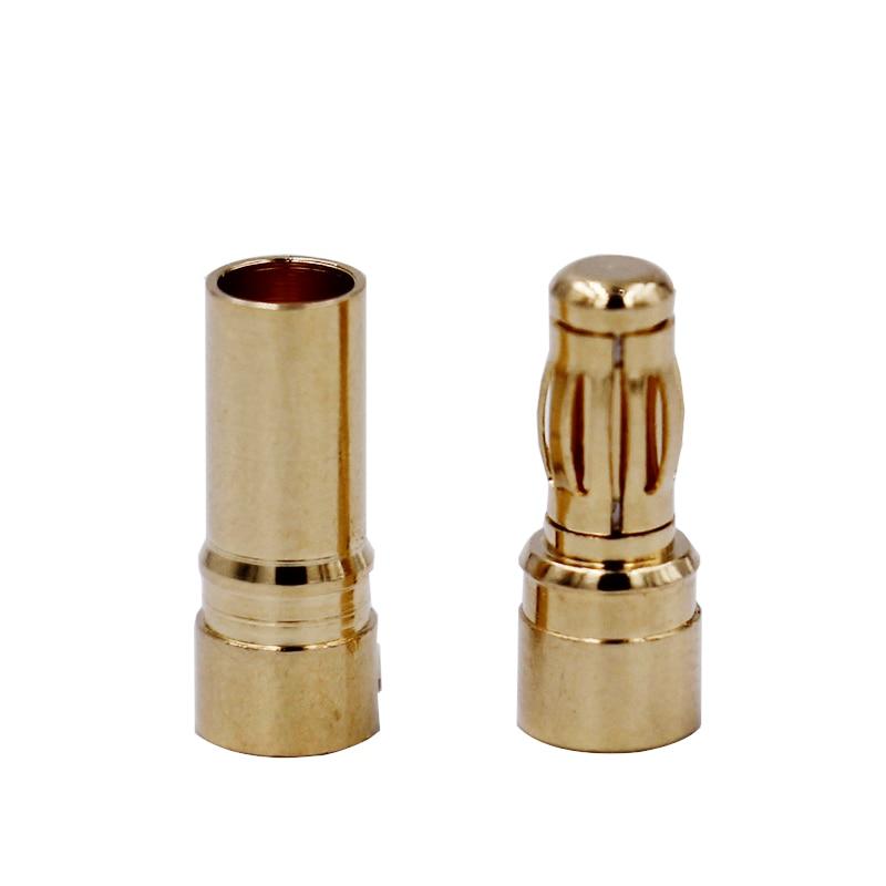 200pair 3 5mm Gold Bullet Banana Connector plug for ESC Lipo RC battery Plugs