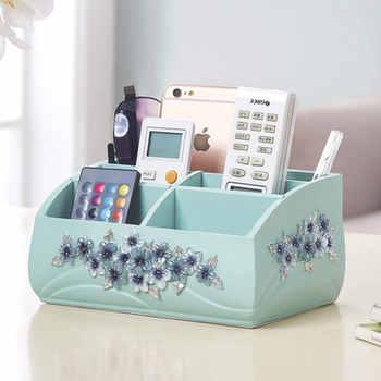Boîte de rangement de finition de cosmétiques créatifs européens boîte de rangement de télécommande de bureau multifonction
