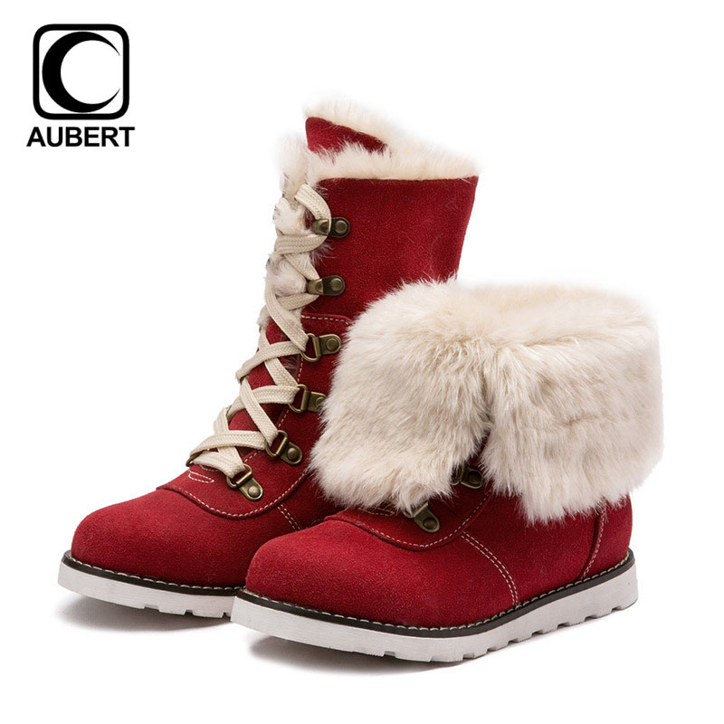 Children Winter Boots Fur Plush Warm Girls Snow Boots Lace up Turned-over Edge Fashion Boots Kids Casual Cotton-padded Shoes