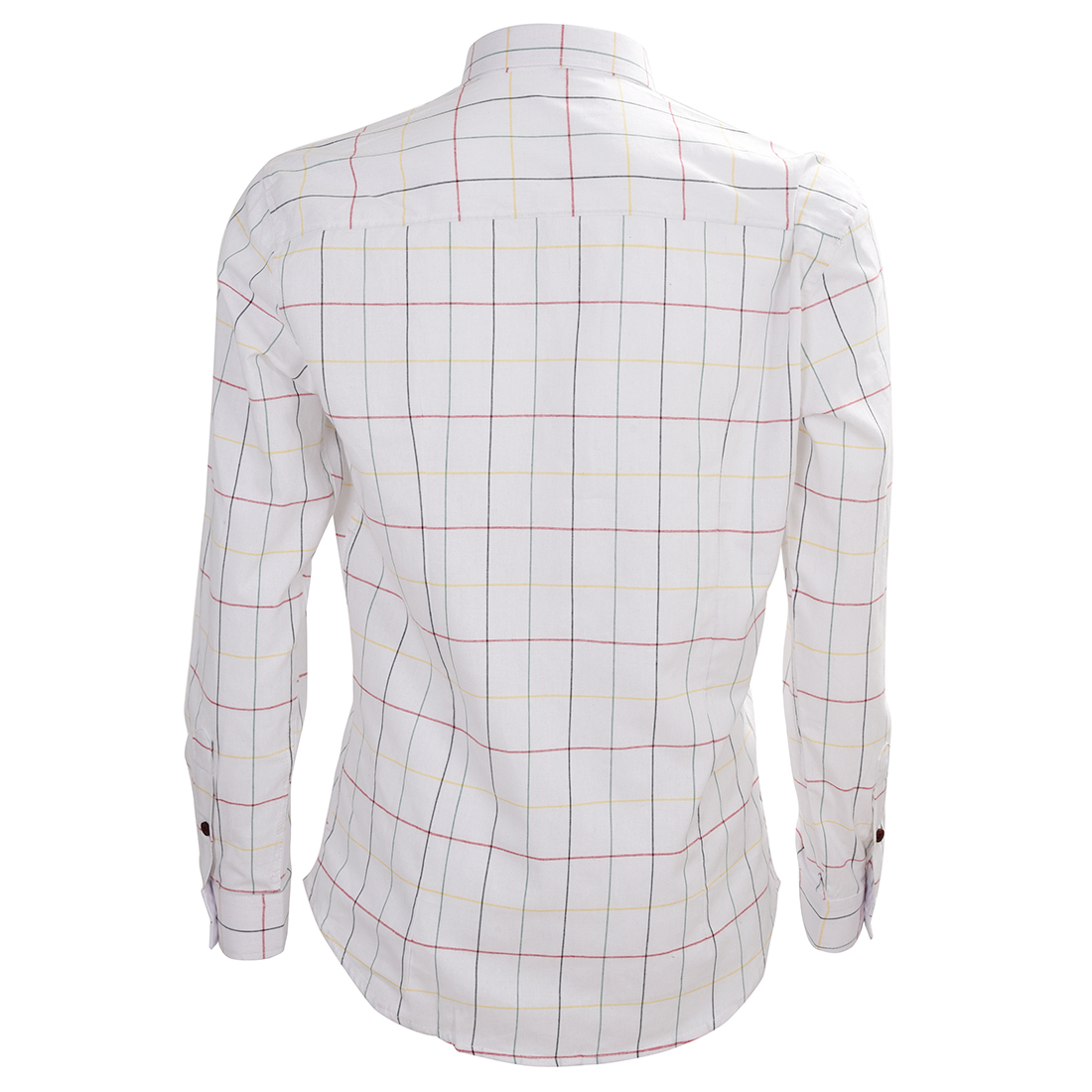 Высокое Качество Бизнес-Светлая Рубашка Плед Рубашку Мужчины С Длинным Рукавом Повседневный Slim Fit Рубашки для Мужчин Белый