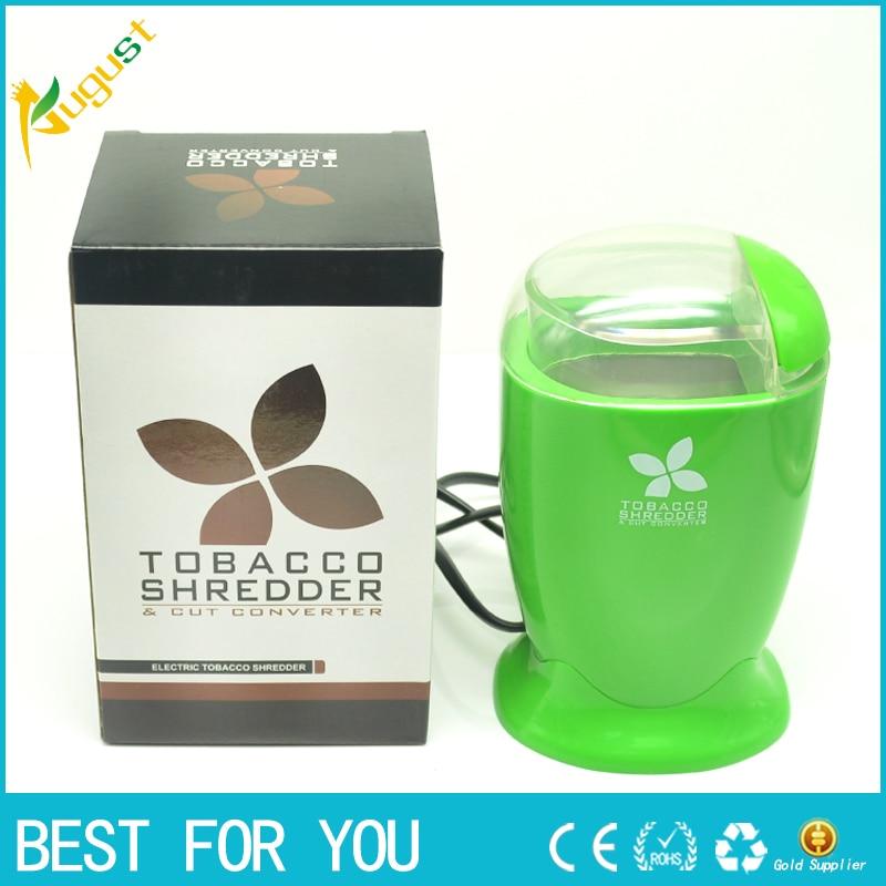 1pc NEW Electric Green Tobacco & Herb Shredder / Grinder / Cut Converter Smart electric mill smoke detectors for cigarette