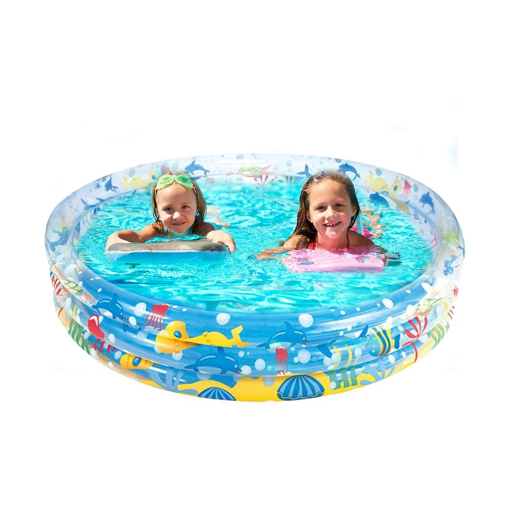 US $22.74 40% OFF|152*30CM Swimming Pool Kids Inflatable Marine Ball Pool  Hard Rubber Round Infant Tub Inflatable Swimming Pool For Kids-in Swimming  ...