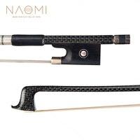 NAOMI Violin Bow 4/4 Full Size Carbon Fiber Violin Bow For 4/4 Violin W/ Silver Braided Ebony Frog Violin Part & Accessories New