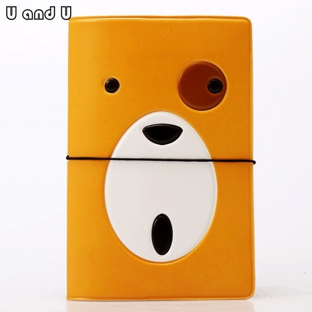 uandu cartoon passport cover for travel pu leather credit card