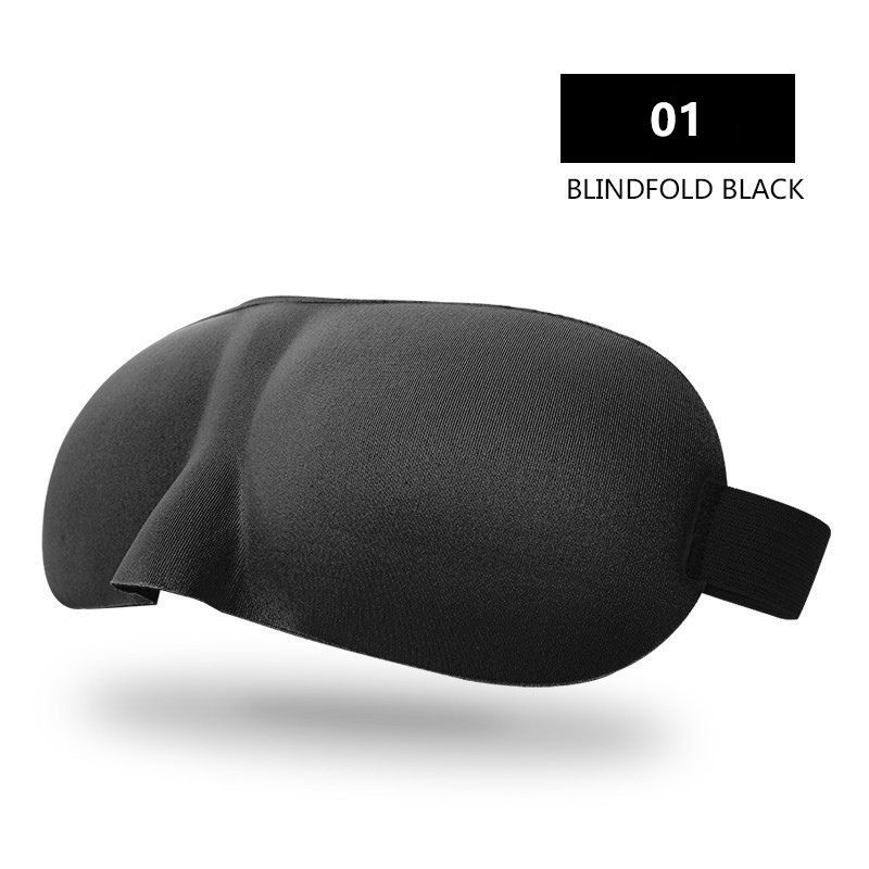 Travel Sambo 3D Eyeshade Travel Soveøjen Mask Black Shade Breathable - Sundhedspleje - Foto 3