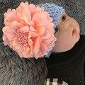 2017 Elástico Bebé Simulación de La Flor Hueco Sombrero Sombrero de Verano Para los Bebés Recién Nacidos accesorios de Fotografía