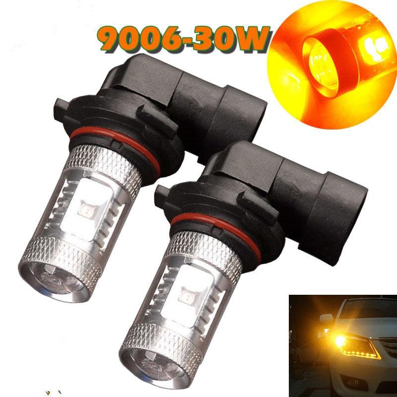 2Pcs Led 9006 30W Amber Yellow Fog Head light Bulb auto Lamp hb4 led car bulbs Signal Tail parking car light source