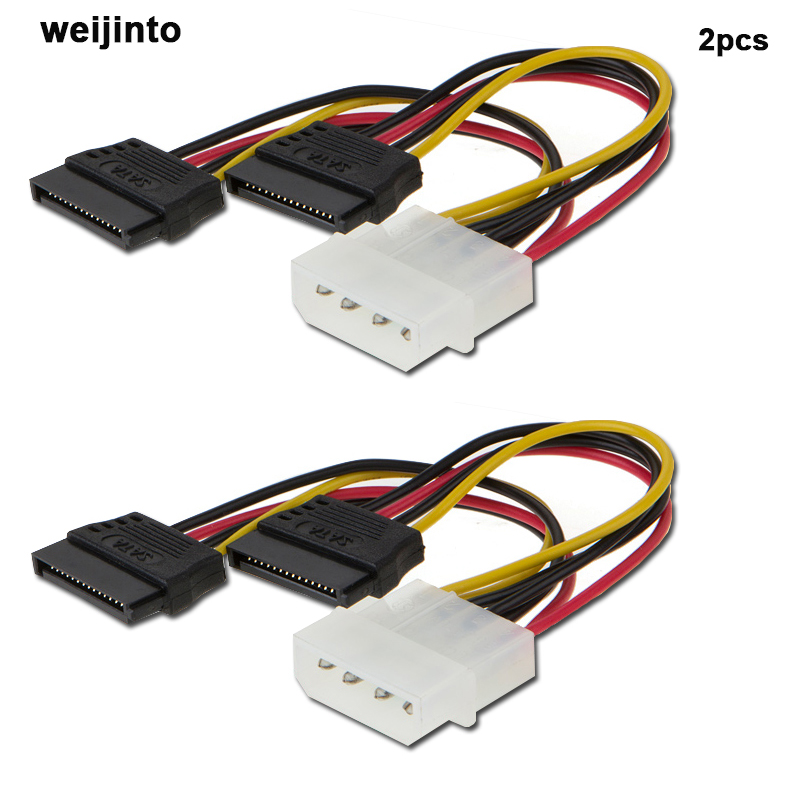 4pin IDE  Male to Female 2 SATA Splitter  Power Adapter Cable 12cm high quality sata 15 pin male to y splitter with shrapnel 2 sata 15 pin female power adapter cable 3