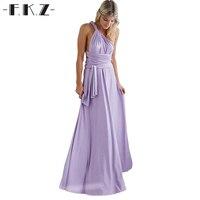 FKZ Summer Halter Sexy Elegant Evening Backless Party Dress Women Vestidos Autumn Club Women Belt Bandage