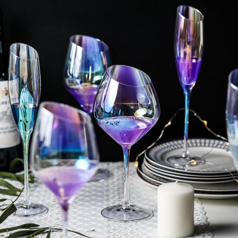 1789 9 De Descuentocolor Inclinado Copas De Vino Copa De Vino Copa Decoraciones Para El Hogar Boda Vino Gafas Bar Hotel Fiesta Decoración De La