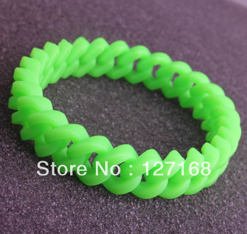 (min order is $10 ) 10pcs/lot Fashion funky silicone rubber wristbands wrist bands rubber bracelets Free Shipping For Gift