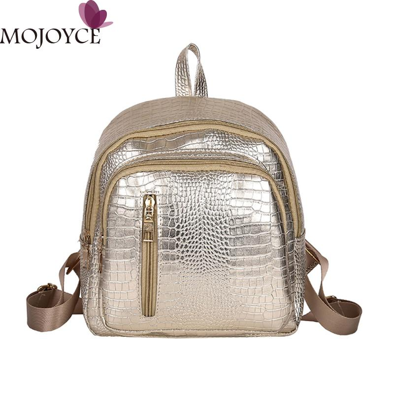 Fashion Women Small Backpack Bright PU Leather Leisure Backpack School Student Shoulder Bag Black Women Backpacks Rucksack New