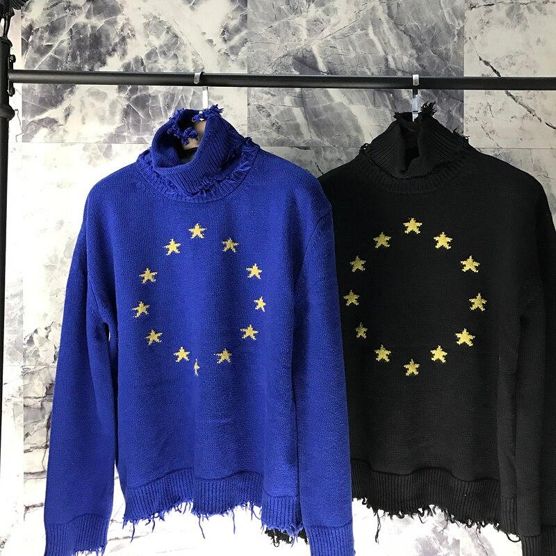 2018ss Vetements meilleure Version 1:1 qualité étoiles européennes broder pull à col roulé Hiphop femmes hommes chandails pull Outwear
