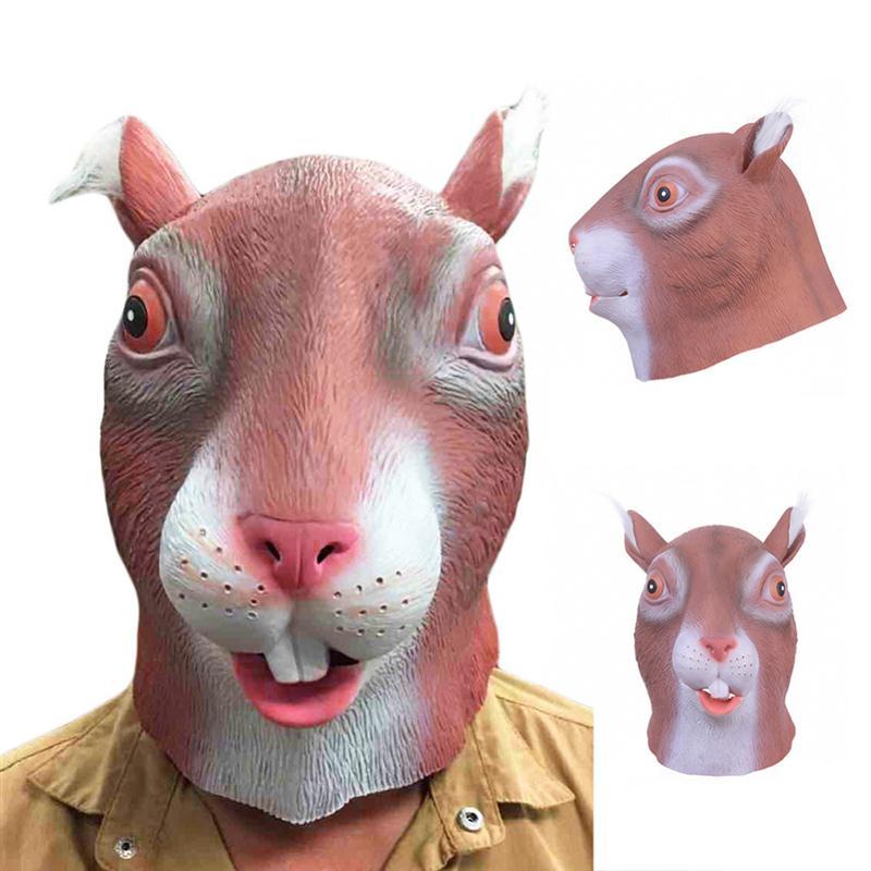 letzte Veröffentlichung Details für perfekte Qualität Latex Eichhörnchen Maske Vollgesichtsmaske Halloween Neuheit ...