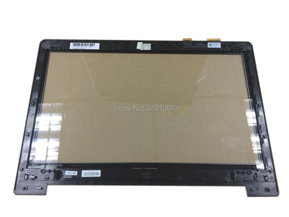 Touch Screen Digitizer Glass With Frame for ASUS VivoBook S300 S300C S300CA touch screen digitizer glass for asus vivobook v550 v550c v550ca tcp15f81 v0 4
