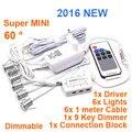 6 pçs/set Mini LED downlight com 9key dimmer 6 * 1 W conduziu a lâmpada do armário ( tamanho do furo : 13 mm ), Led luz da estrela levou teto MINI21A-1W6E9