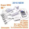 6pcs/set Mini led downlight with 9key dimmer 6*1W led cabinet lamp (hole size:13mm),LED Star light LED Ceiling MINI21A-1W6E9