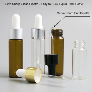 Image 4 - 50 x Travel Emptpy 10ml 15ml Glass Essential Oil Dropper Bottle 1/3oz Drop Liquid Pipette jars 1/2oz Amber Cosmetic Packaging
