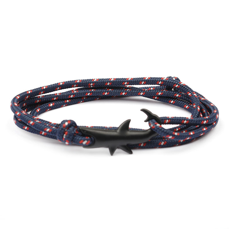 Armbänder & Armreifen 2019 Mode 1 Pcs Verkaufen Mode Id Armbänder Individuation Tier Die Shark Seil Kette Armband Sport Natürliche Hand Oberleitung