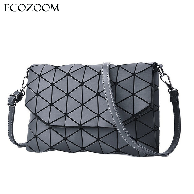 Matte Designer Women Shoulder Bags Girls Bao Flap Bag Fashion Geometric Handbag Casual Clutch Crossbody Bag Satchel Envelope Bag dvodvo women handbag baobao bag female folded geometric plaid bag bao bao fashion casual tote women handbag mochila shoulder bag