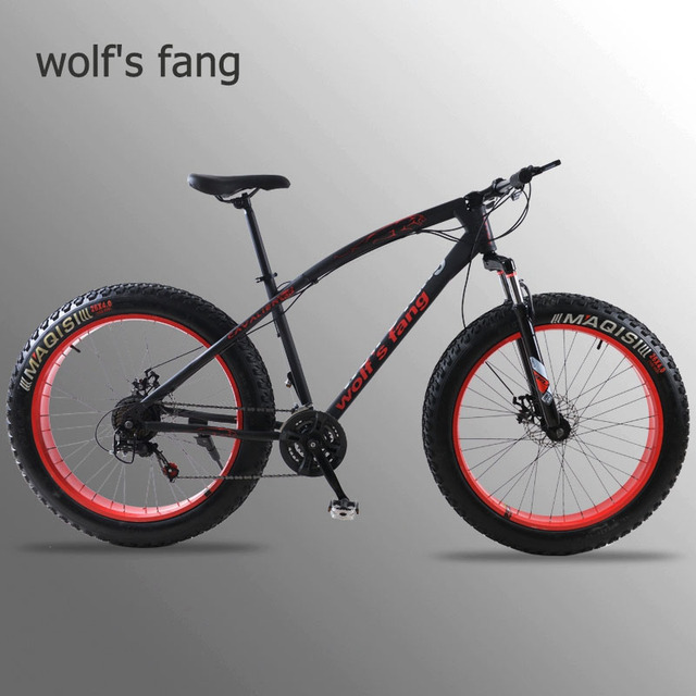 wolf's fang mountain bike 7/21speed bicycle 26x4.0 fat bike Spring Fork snow bike road bike Mechanical Disc Brake