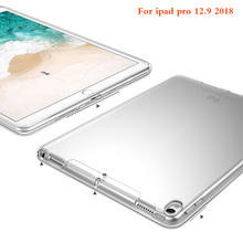 купить Tablet For ipad pro 12.9 inch 2018 Case Slim Crystal Clear TPU Silicone Protective Back Cover For Ipad pro 12.9 inch 2018 case по цене 418.79 рублей