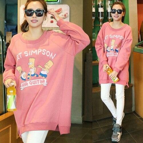 153657cd88 Women Plus Size Casual Loose Simpson Thick Hoodie Dress Cute Korean Style  Large Sized Female Long Fleeced Hoodies