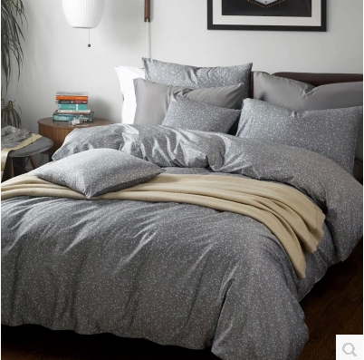 4pcs Five Star Hotel Bedding Set King Size Grey Color