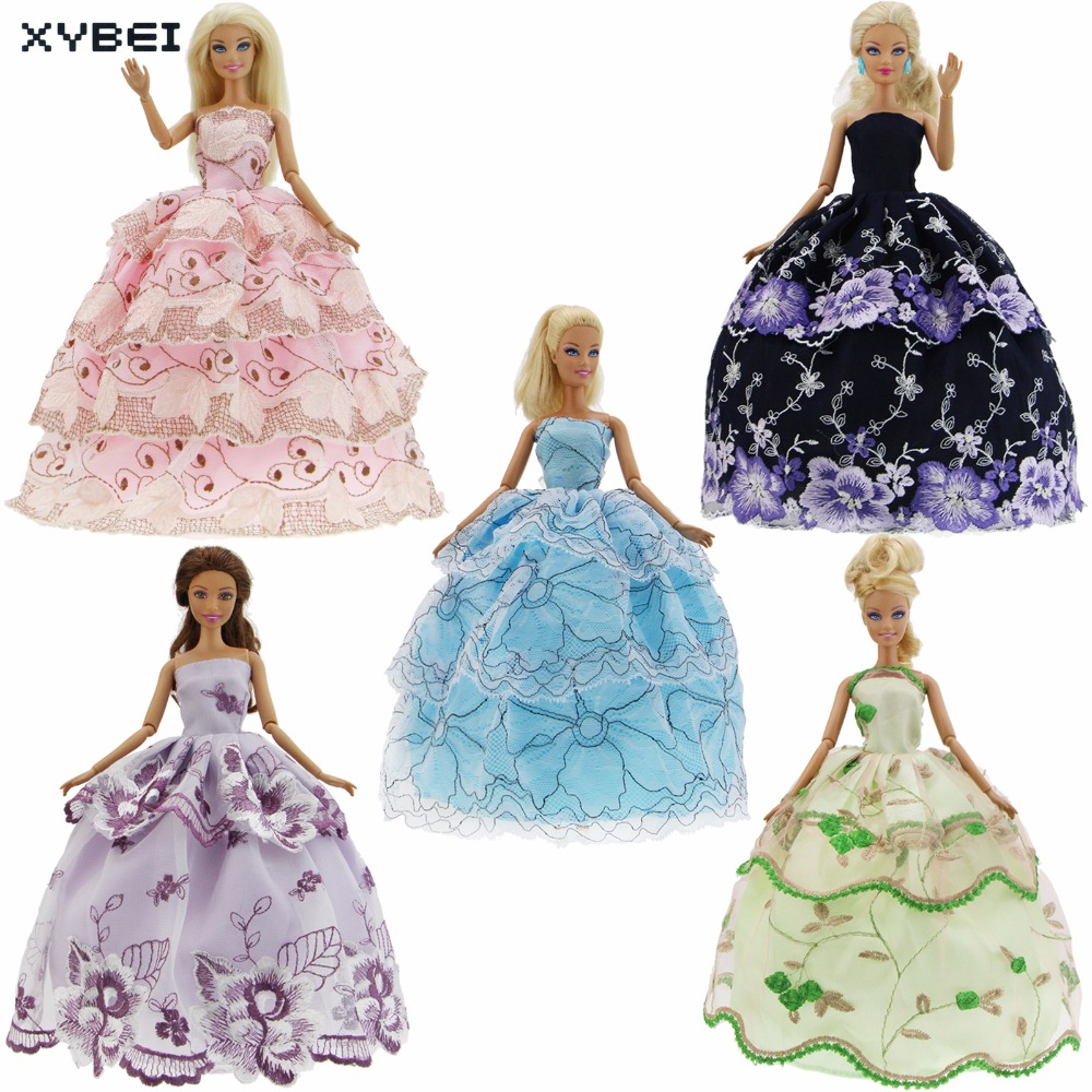 5 Pcs/lot High Quality Dresses Wedding Party Gown Mixed Style ...