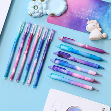 6 Pcs/Set gel pen papelaria stationery lapices tinta kawaii material escolar cute 0.5mm black jel kalem caneta fourniture bureau 1 pcs set color gel pen kawaii watercolor glitter cute tinta plastic festoon office lapices supplies stationery kalem material
