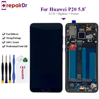 Original Lcd For Huawei P20 LCD Display Touch Screen Digitizer Replacement 5.8 100% Tested For Huawei P20 LCD ML AL00 + Frame