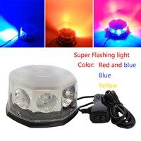 DC12V 24V Super Bright Car LED Warning Police Light Strobe Light High Power Circular Open Road Flashing Engineering Roof Light