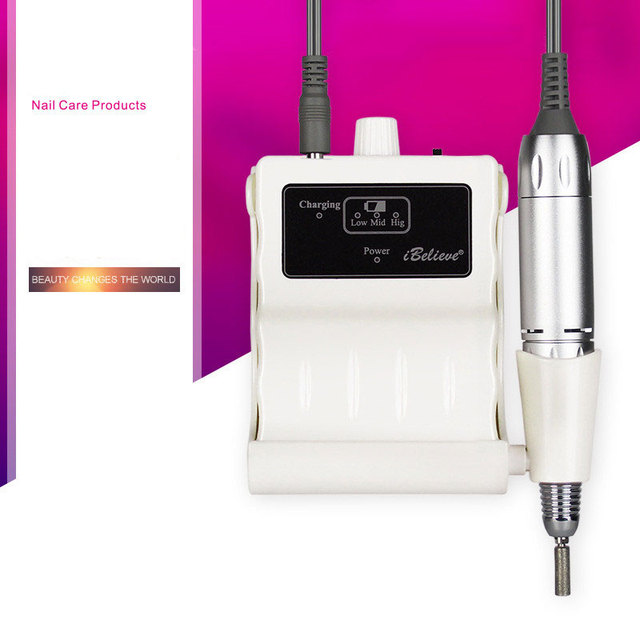 Electric Nail Drill Machine 30000 RPM Pro Nail Art Tools Nail File ...