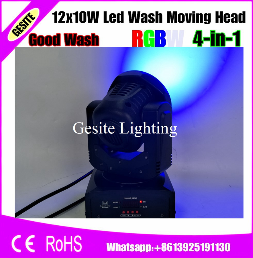 Commercial Lighting 6pcs/lot 12pcs 10w Cree Led Wash Light Beam Moving Head Disco Light Rgbw Rgbw 4 In 1 Led Beam To Be Distributed All Over The World Stage Lighting Effect