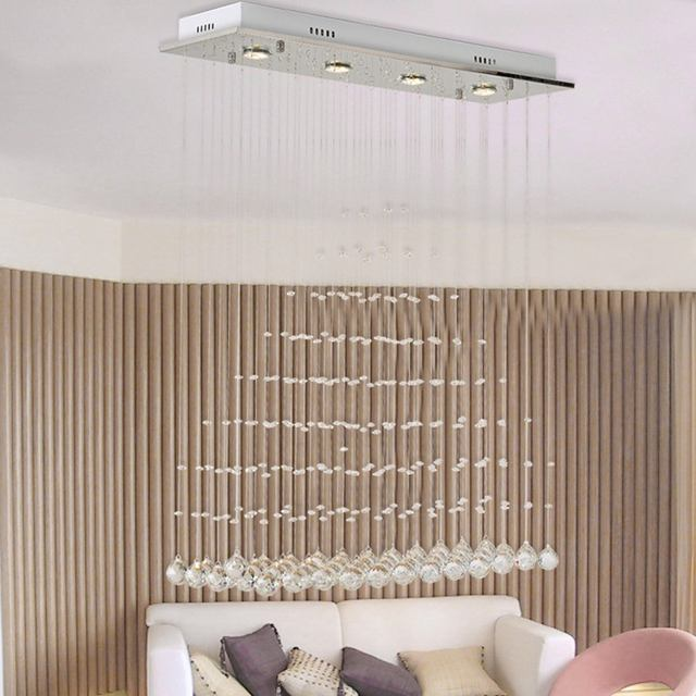 Online Shop Oblong Crystal Hanging Dining Room Ceiling Light Luxury     Oblong Crystal Hanging Dining Room Ceiling Light Luxury Restaurant Ceiling  Light Living Room Hotel Stair Case Ceiling Lamp